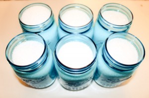 Bath soak in mason jars
