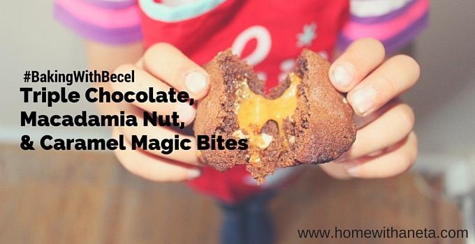 Triple Chocolate, Macadamia Nut, & Caramel Magic Bites