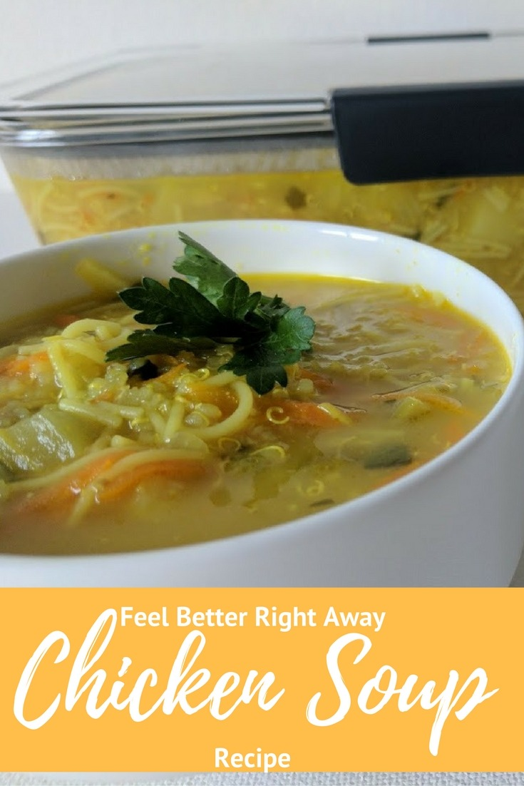 feel better right away chicken soup