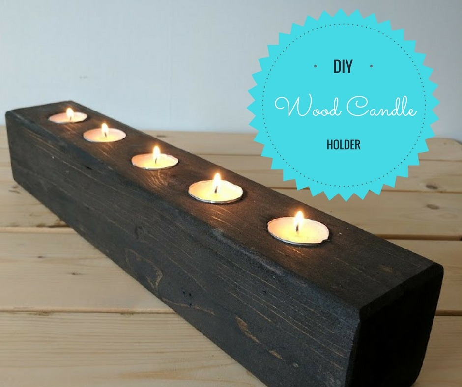 diy wood block candle holder tutorial home with aneta. Black Bedroom Furniture Sets. Home Design Ideas