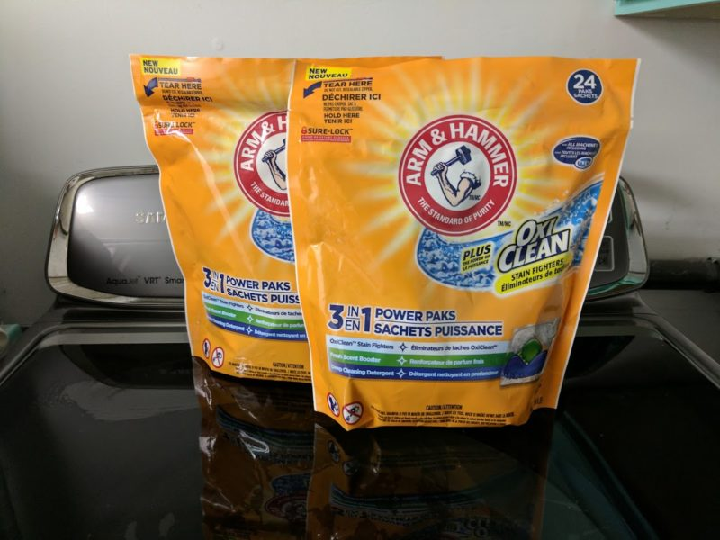 arm & hammer 3-in-1 power paks laundry
