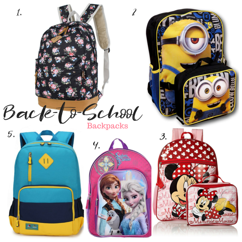 kid's backpacks Back to school fashion and accessories