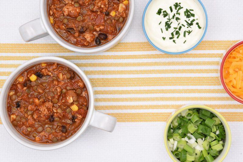 smoky turkey lentil chili